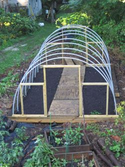 hoop house this model shows how back and front walls are framed to allow for