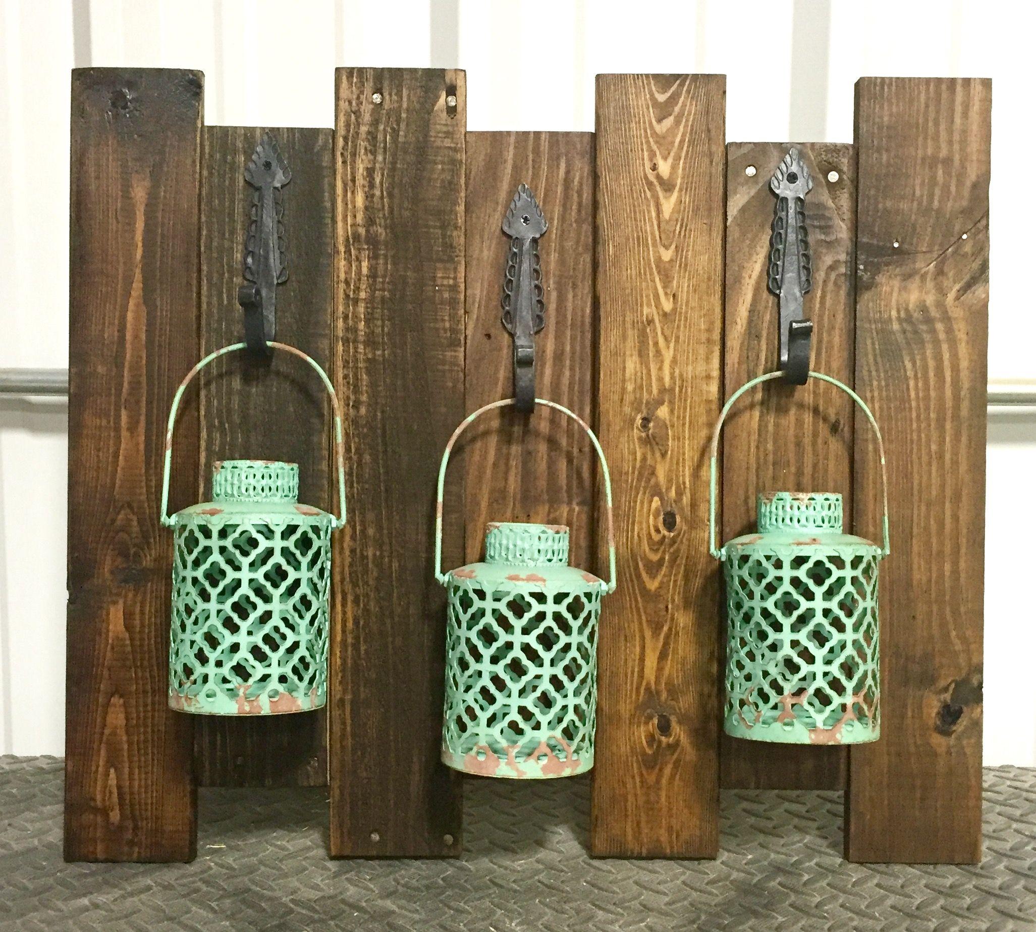 Pallet Wood Lantern Display Diy Pallets