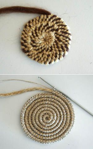 Natural eco-friendly jute yarn. Perfect for knitting or crocheting (bags, panamas, baskets, rugs), wraping, packaging, scrapbooking and any craft. One - craftIdea.org