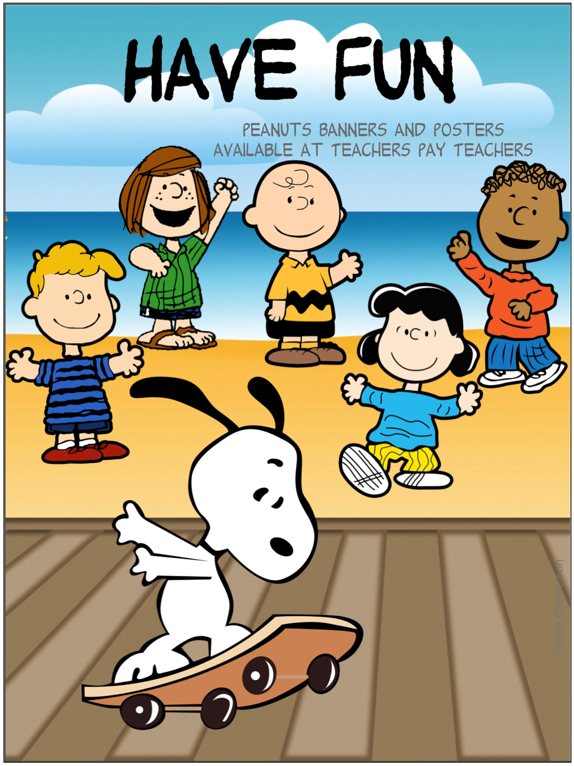 Have Fun Peanuts Gang Friends Posters And Banners For