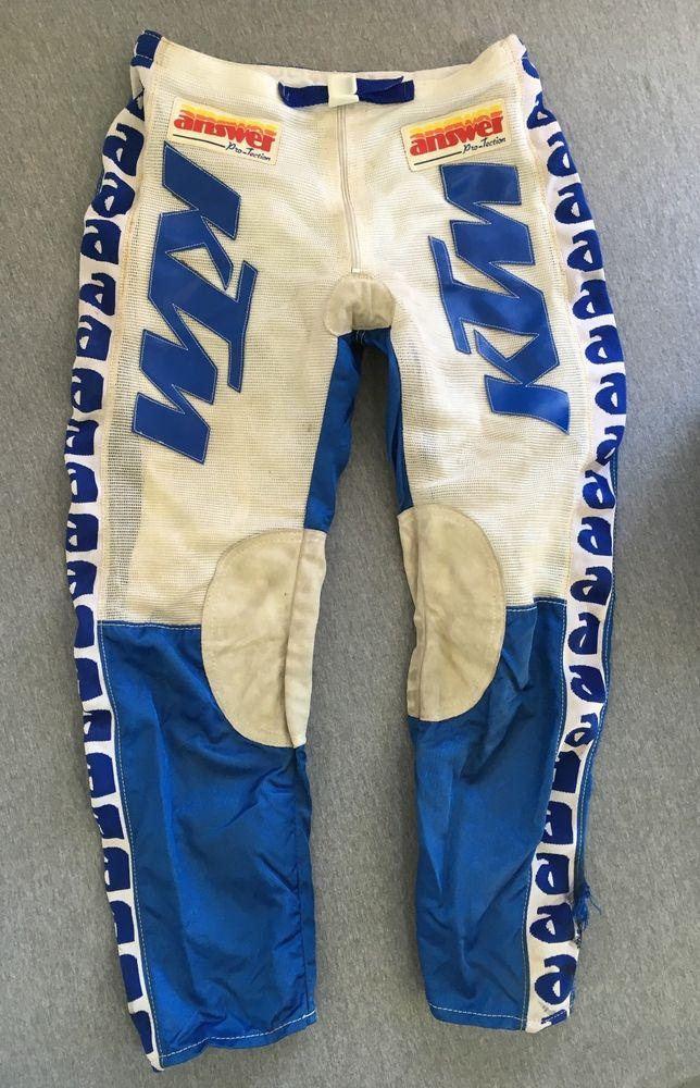 KTM Racing Pants Vtg 80s/90s Answer Motocross Motorcycle MotoX Bike Nylon  Men 32