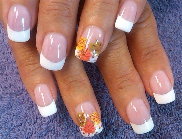 Fall Leaf French By Aliciarock From Nail Art Gallery Thanksgiving Nail Designs Thanksgiving Nail Art Nail Art Designs