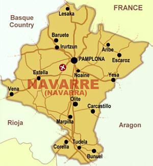 Map Of Spain Navarra.Navarra Map Navarra Navarre Home Holiday Hotel Holiday