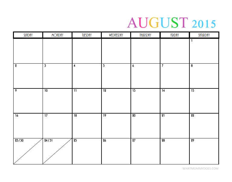 2015 Monthly Calendar Templates Blank Calendar Template Free