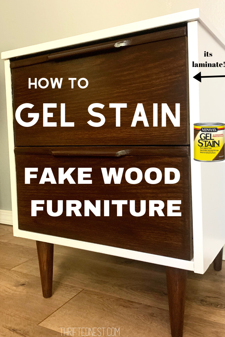 How To Gel Stain Laminate Furniture Yes You Can