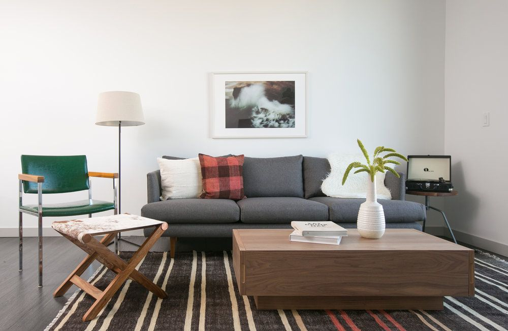 modern living room beachy vintage kilim rug stripe boho rustic ...