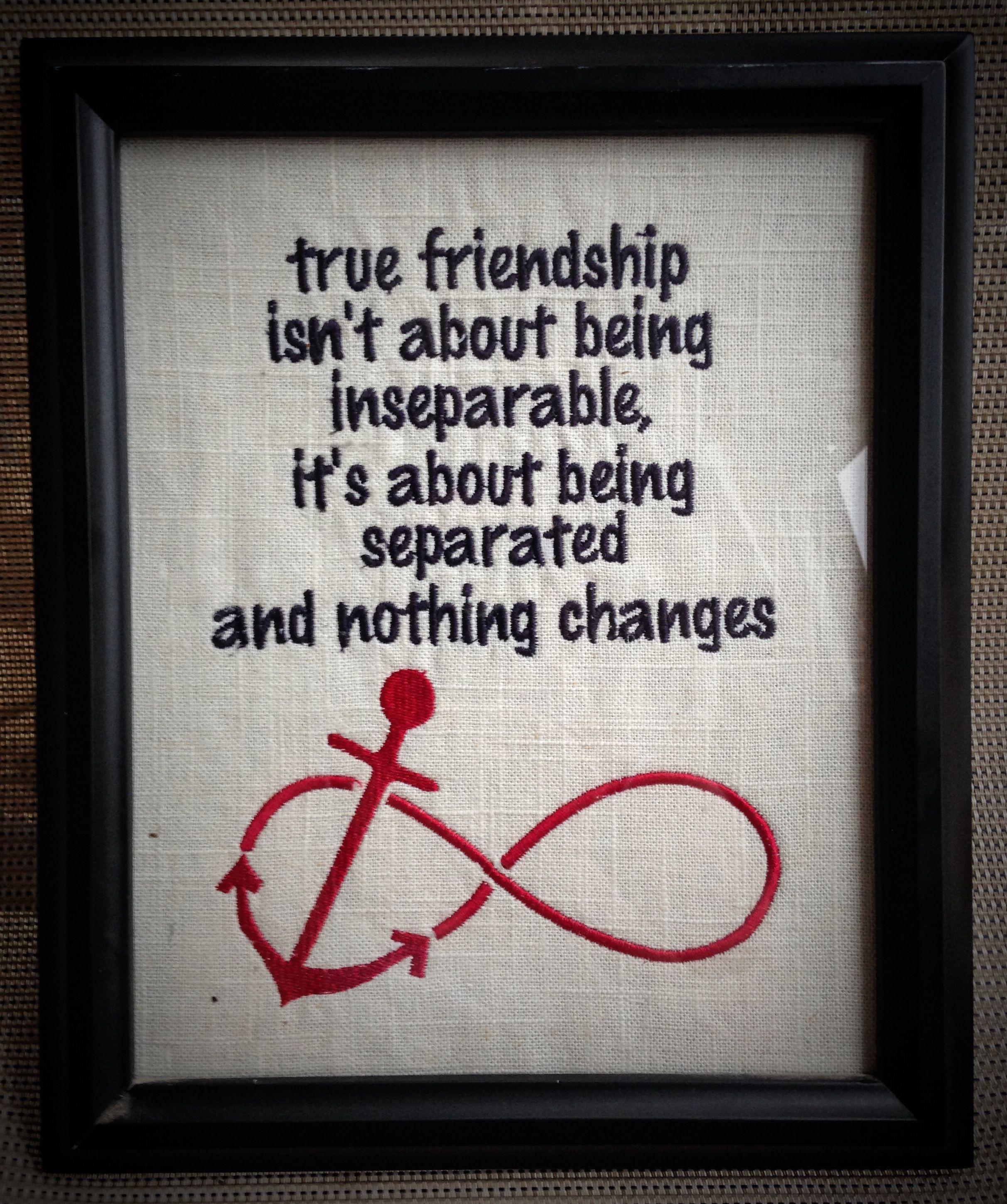 Framed Friendship Quote At Stephanie Close Close Close Peltzer