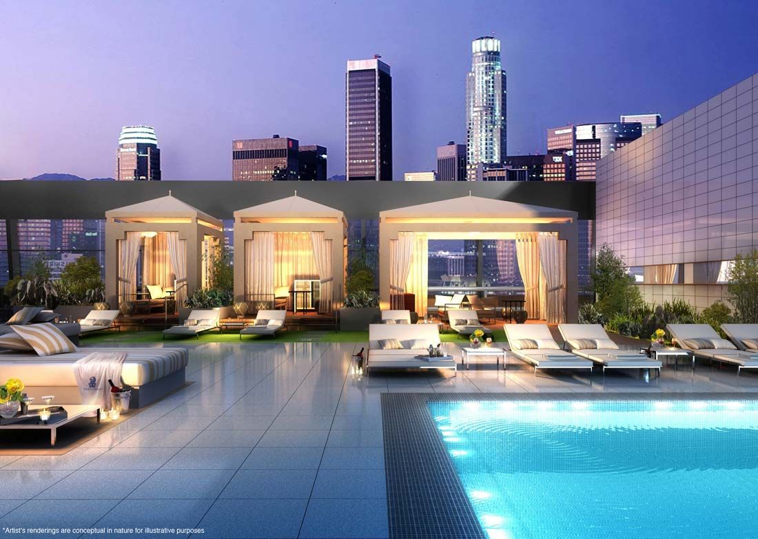 Ritz Carlton Hotel S 12 Apartments Look Out Over La From The San Gabriel Mountains And Hollywood Hills Access To Roof Top Spa Pool Fitness