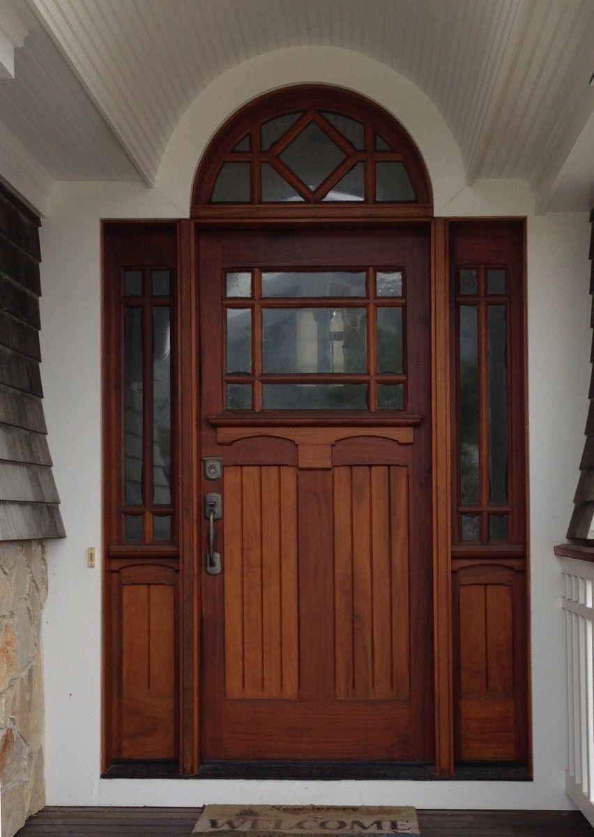 16 Enchanting Modern Entrance Designs That Boost The Appeal Of The Home: Wood Exterior Door, Custom Front Entry Doors, Craftsman Exterior Door