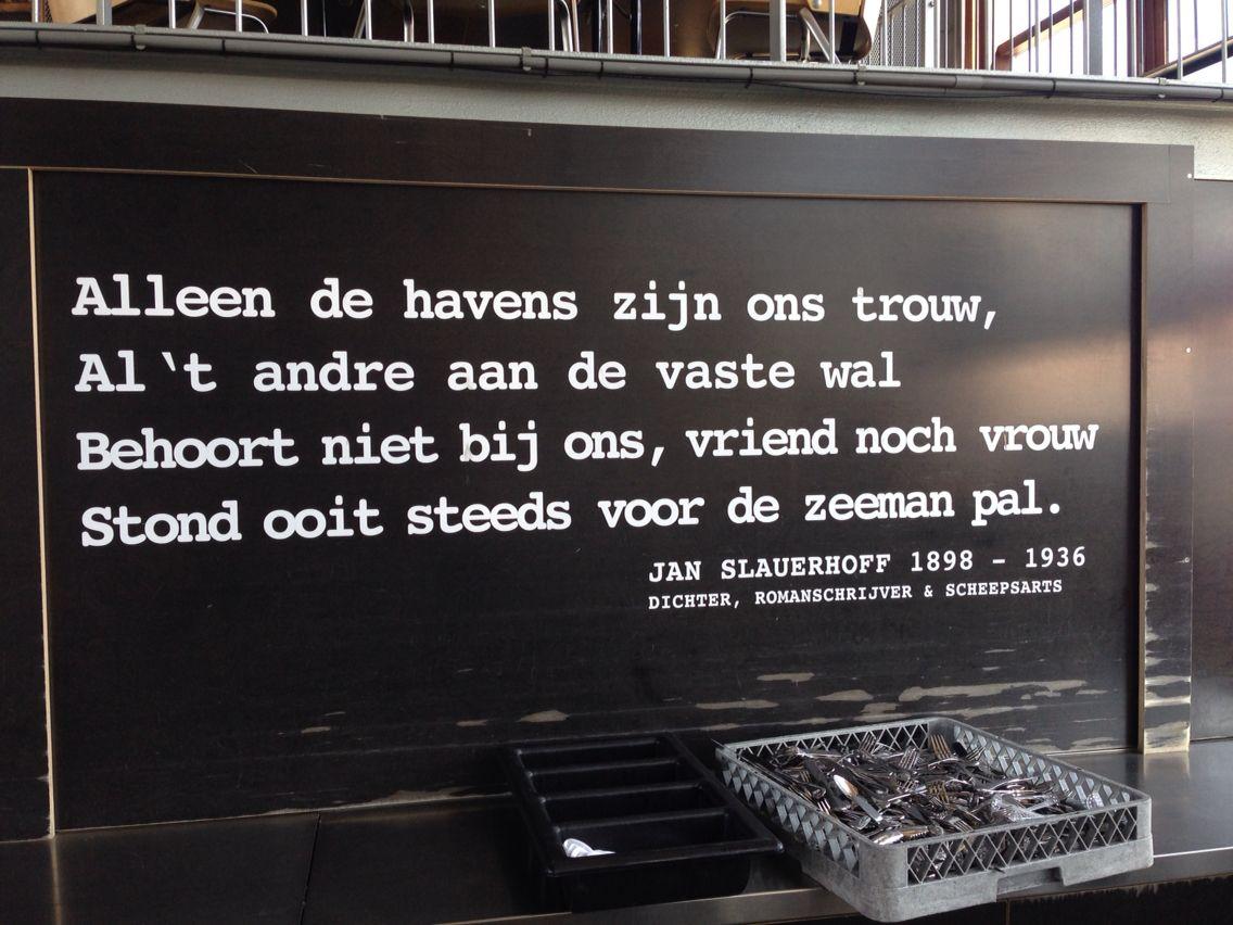 Amsterdam Quotes Slauerhoff In De Kantine Amsterdam Quotes  Pinterest