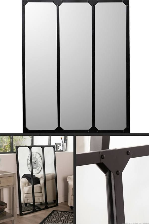 12 magnifiques miroirs industriels d couvrir miroir industriel grands miroirs et verri re. Black Bedroom Furniture Sets. Home Design Ideas