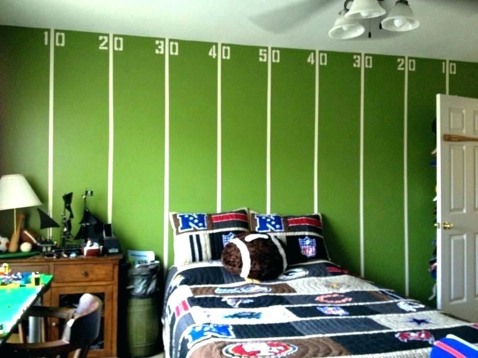 Sports Bedroom Ideas Football Decor Large Size Of Lights Kids Room Paint