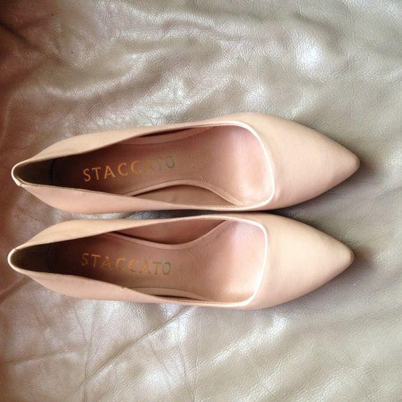 Cream heels Never worn.  Bought in Hong Kong. Shoes Heels