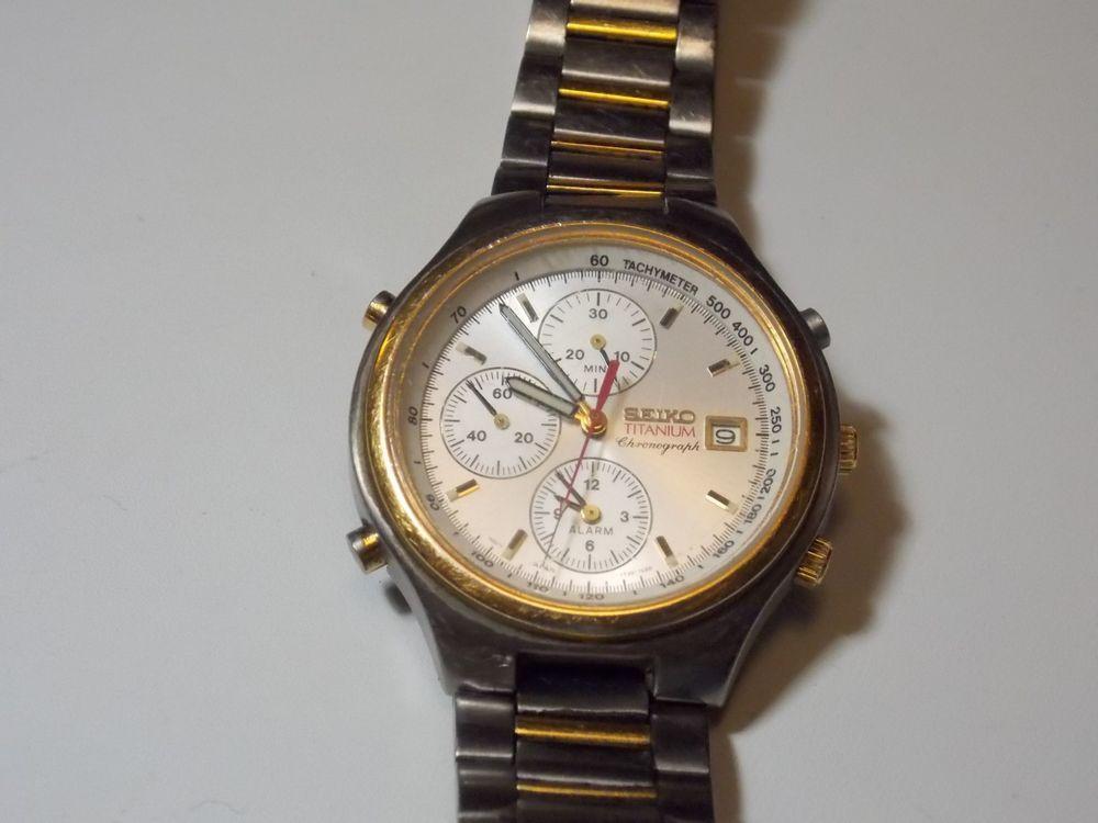 seiko 7t32 7009 7e68 titanium chronograph tachymeter date alarm rh pinterest com Seiko 7T32 Year of Manufacture Seiko 7T32 Year of Manufacture