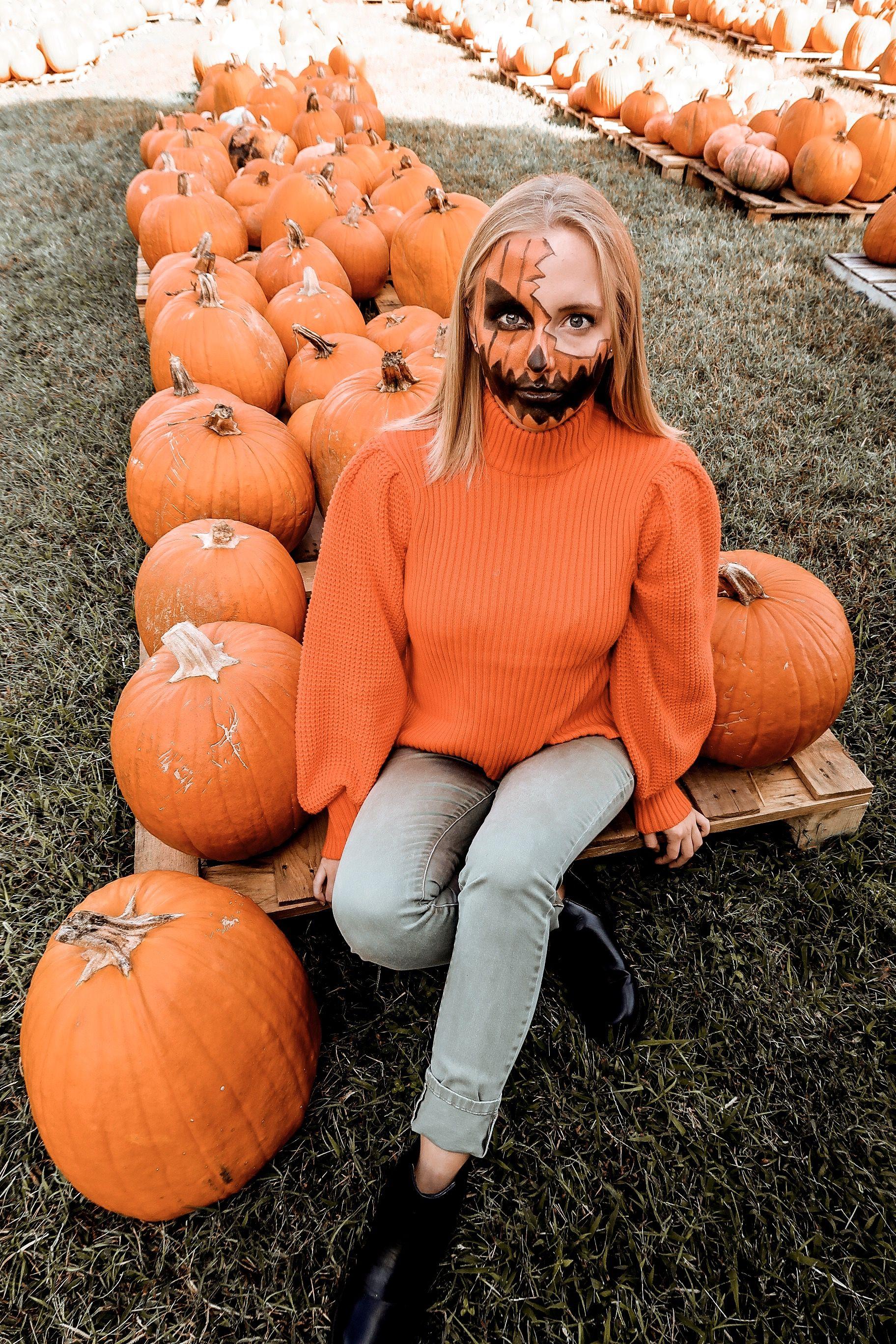 Pumpkin Makeup Halloween Diy halloween costumes youtube