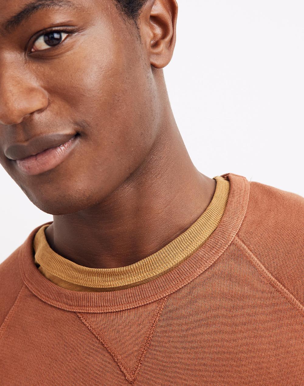 Men S Garment Dyed Crewneck Sweatshirt Crew Neck Sweatshirt Garment Dye Sweatshirts [ 1270 x 1000 Pixel ]