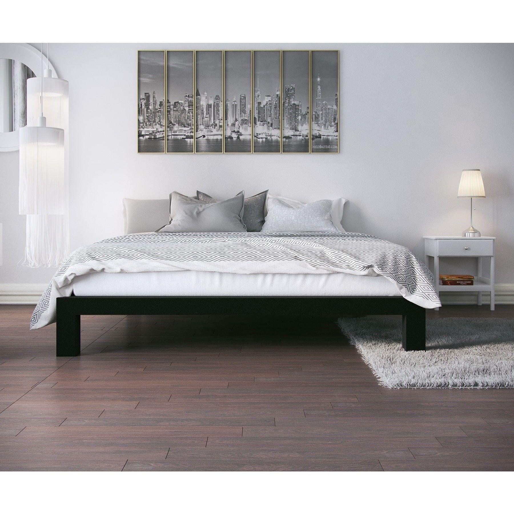 Best Vesta Black Metal Slatted Platform Bed King Platform 640 x 480