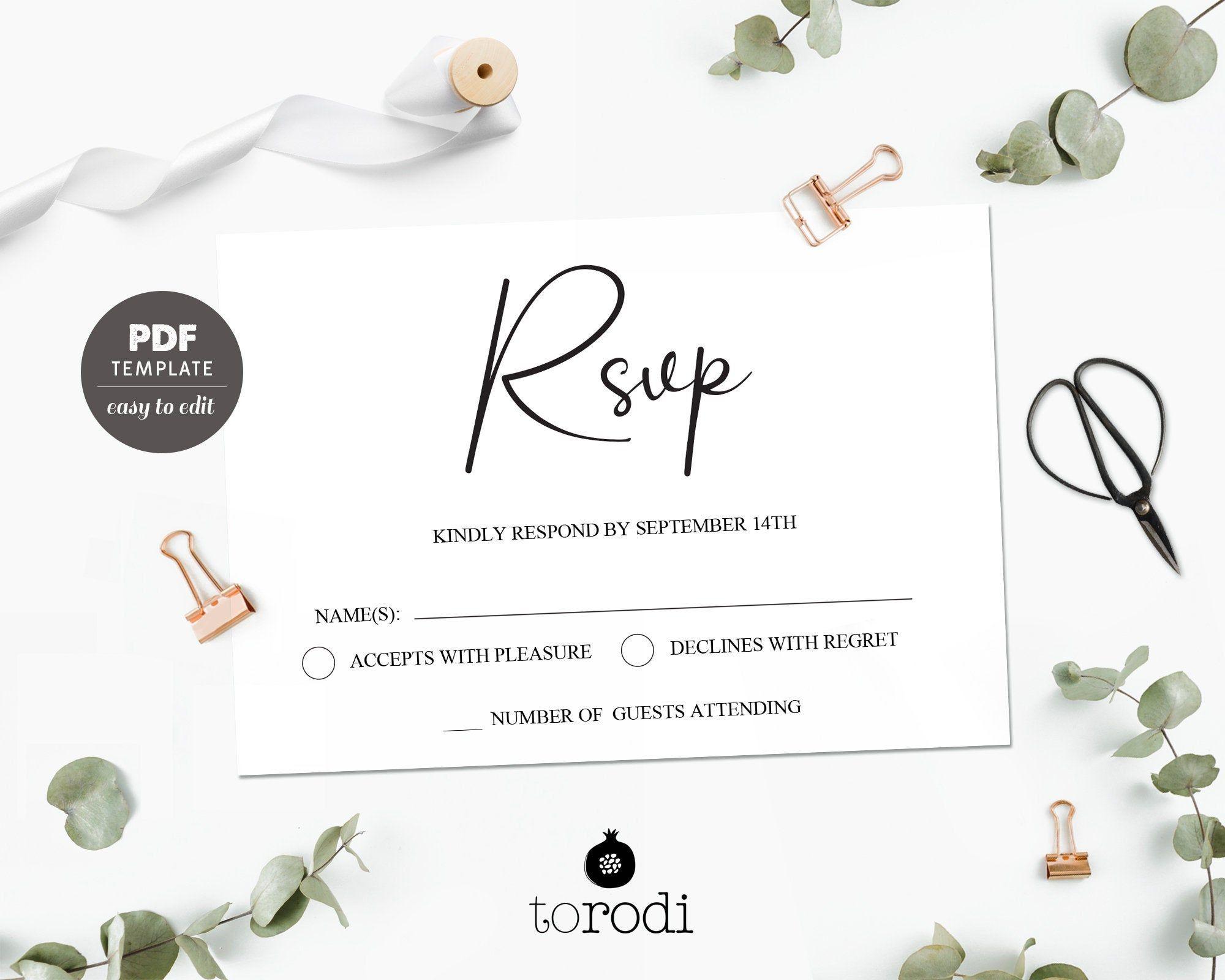 Rsvp Card Template Wedding Rsvp Cards Rsvp Postcard Wedding Etsy Rsvp Wedding Cards Free Wedding Printables Rsvp Postcard