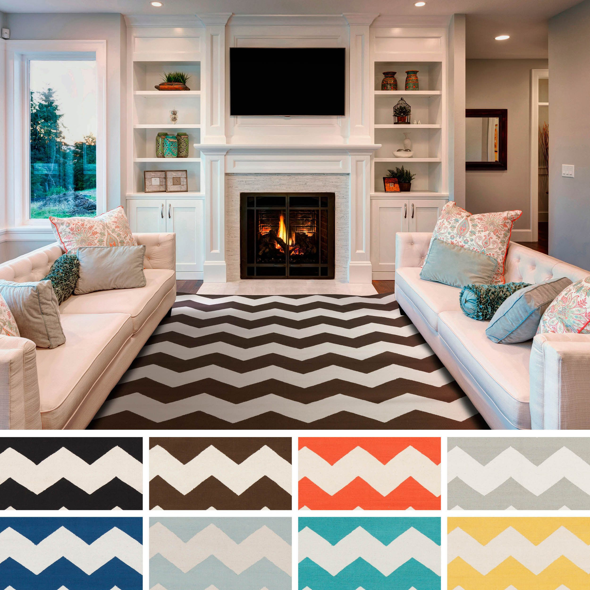 Nuloom geometric chevron kids rug 5 39 3 x 7 39 9 overstock for Living room rugs 6x9
