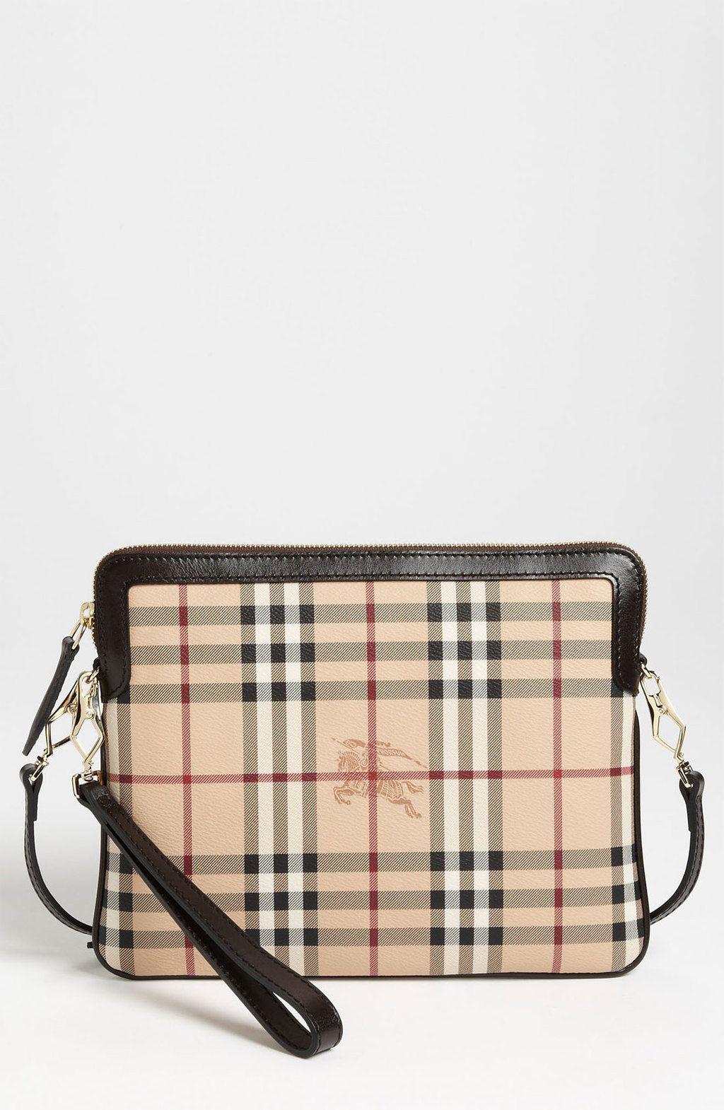 3d0e75243ee8 Burberry - Brown Prorsum Haymarket Check Ipad Crossbody Bag