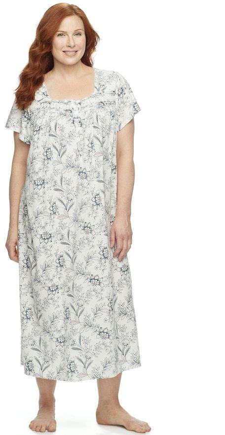 fd54e8871be Plus Size Croft   Barrow® Pajamas  Short Sleeve Pintuck Nightgown ...