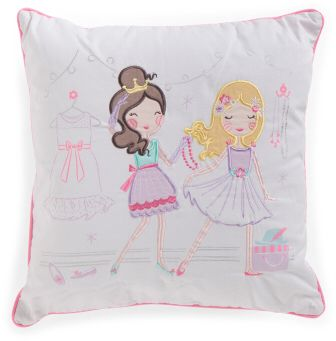 Pretty Girls Pillow | Kids Decor for your girls bedroom | Pink and lovely | Best friends | #afflink