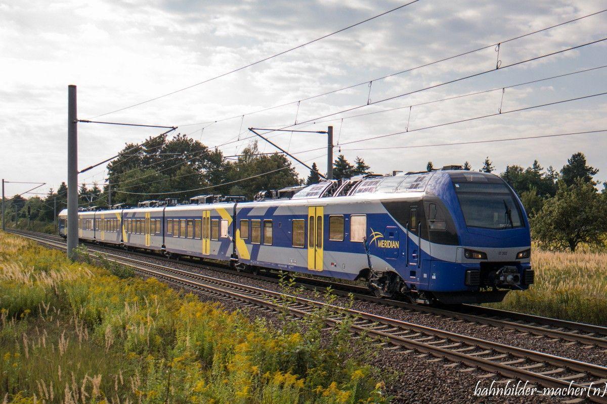 #Stadler #FLIRT 3, ET 302 der zukünftig im E-Netz Rosenheim (München–Rosenheim– Salzburg/Kufstein) als Meridian für die BOB #railway #rollingstuck