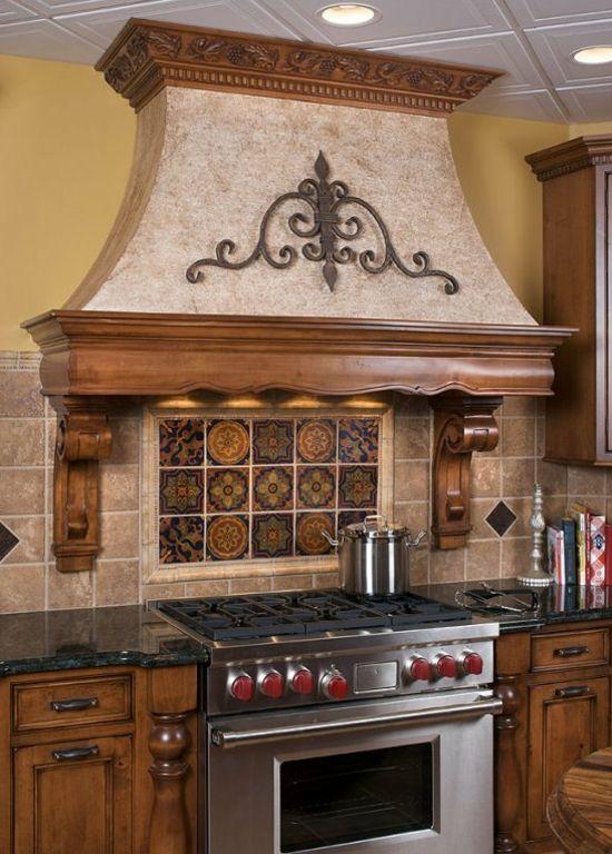 abzugshaube mit retro holz design | Küchen | Pinterest ...