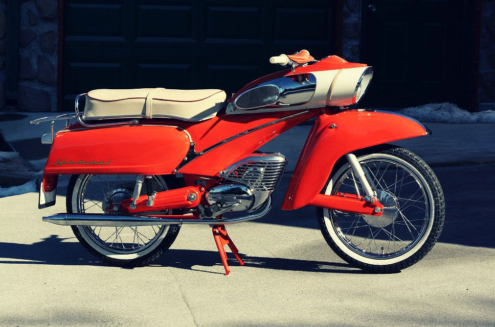This 1964 DKW Hummel is a masterclass in '60s era, futuristic design. It's powered by a 50cc 2-stroke engine, has drum brakes front and rear, an...