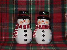 Decorative Snowmen Salt and Pepper Shakers