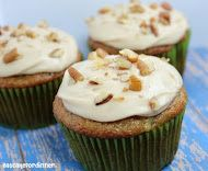 Zucchini Cupcakes with Caramel Cream Cheese Frosting - Making?  Definitely!