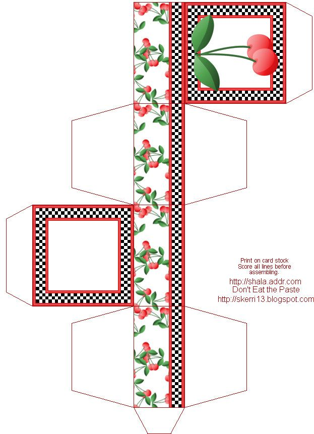 free printable miniature templates Standard Gift Boxes - basic - print lines on paper