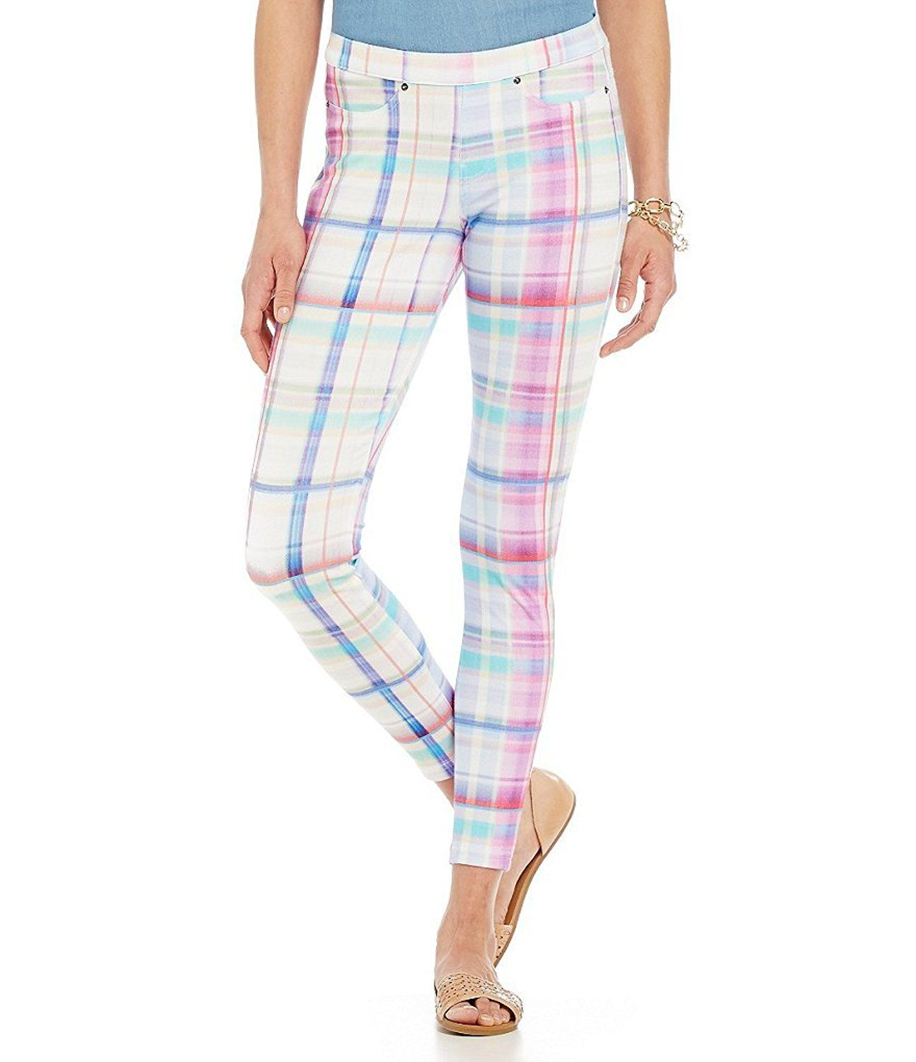 7eb48017213910 Hue Women's Madras Plaid Super Smooth Denim Skimmer Leggings >>> Check out  the image by visiting the link.