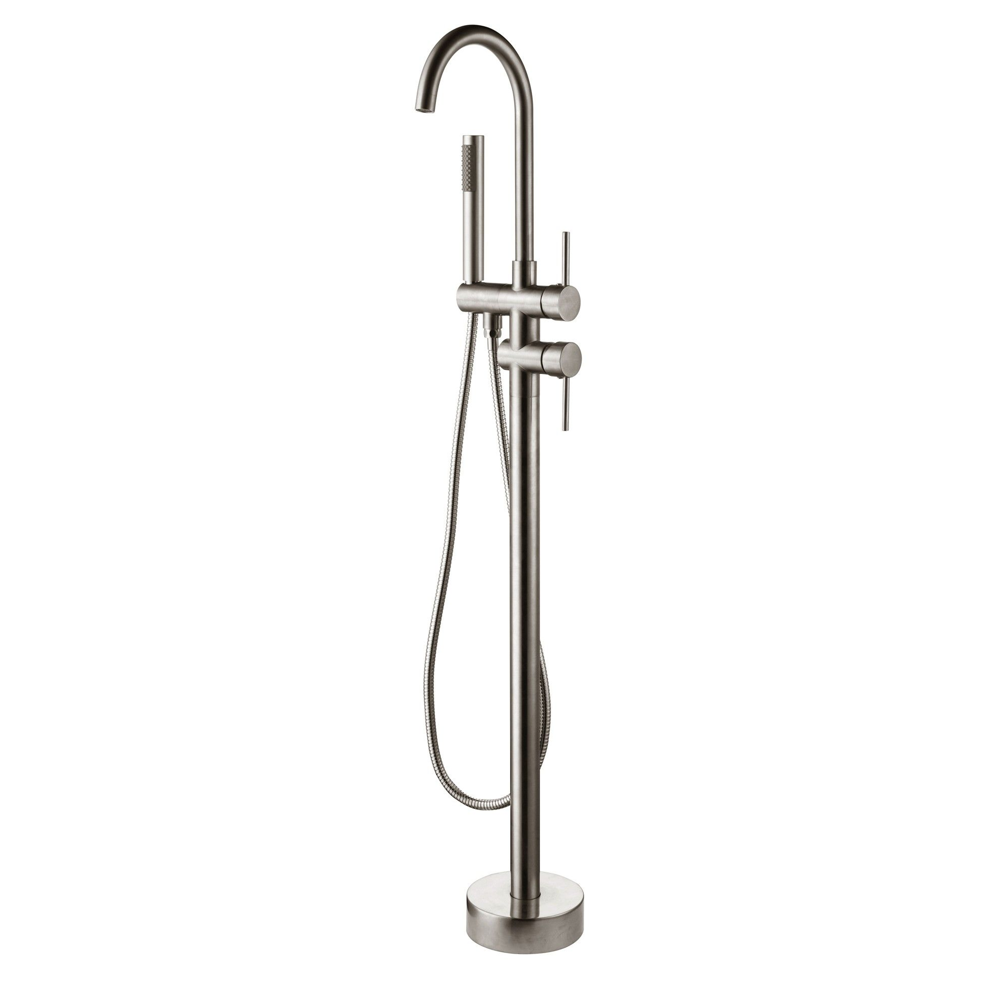 Brewst Modern Freestanding Bathtub Faucet Tub Filler Brushed Nickel ...