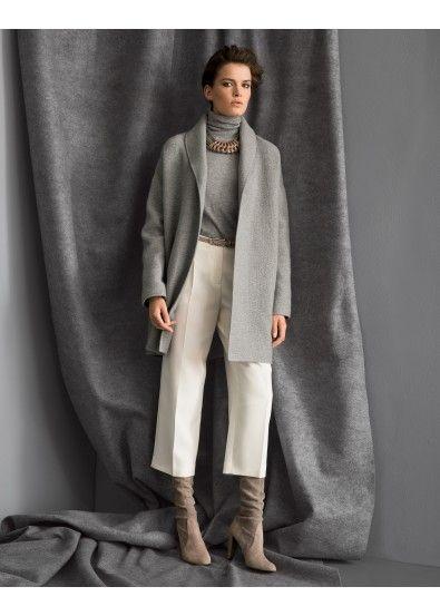 550cab31c69 Boiled Double Face Cashmere Hutton Coat and Finesse Crepe Cropped Rivington  Pant