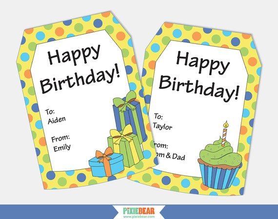 Personalized Gift Tags Birthday Gift Tags Personalized Etsy Happy Birthday Tag Birthday Tags Printable Birthday Gift Tags