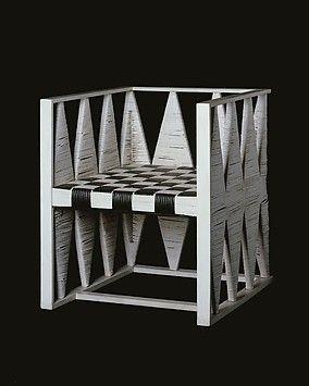 Armchair, 1903 | Wood, cane. Koloman Moser | The Metropolitan Museum