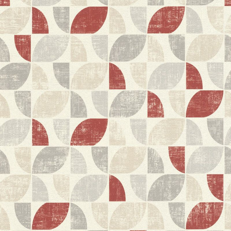 Rasch Modern Art Geometric Paprika/Multi Wallpaper