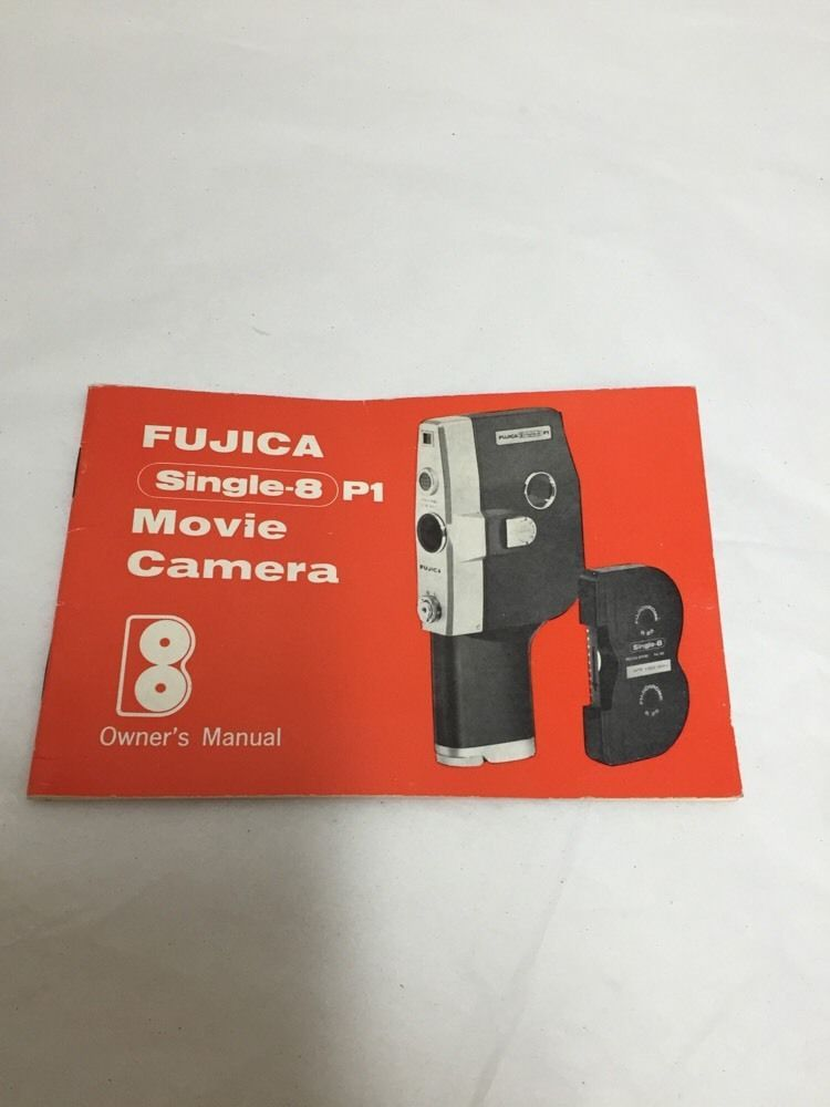 fujica single 8 p1 movie camera owner s manual only instruction rh pinterest com Fujifilm FinePix Camera Manual fujifilm digital camera user manual
