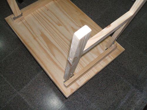 como hacer mesa plegable Outdoor projects Mesas and Bar