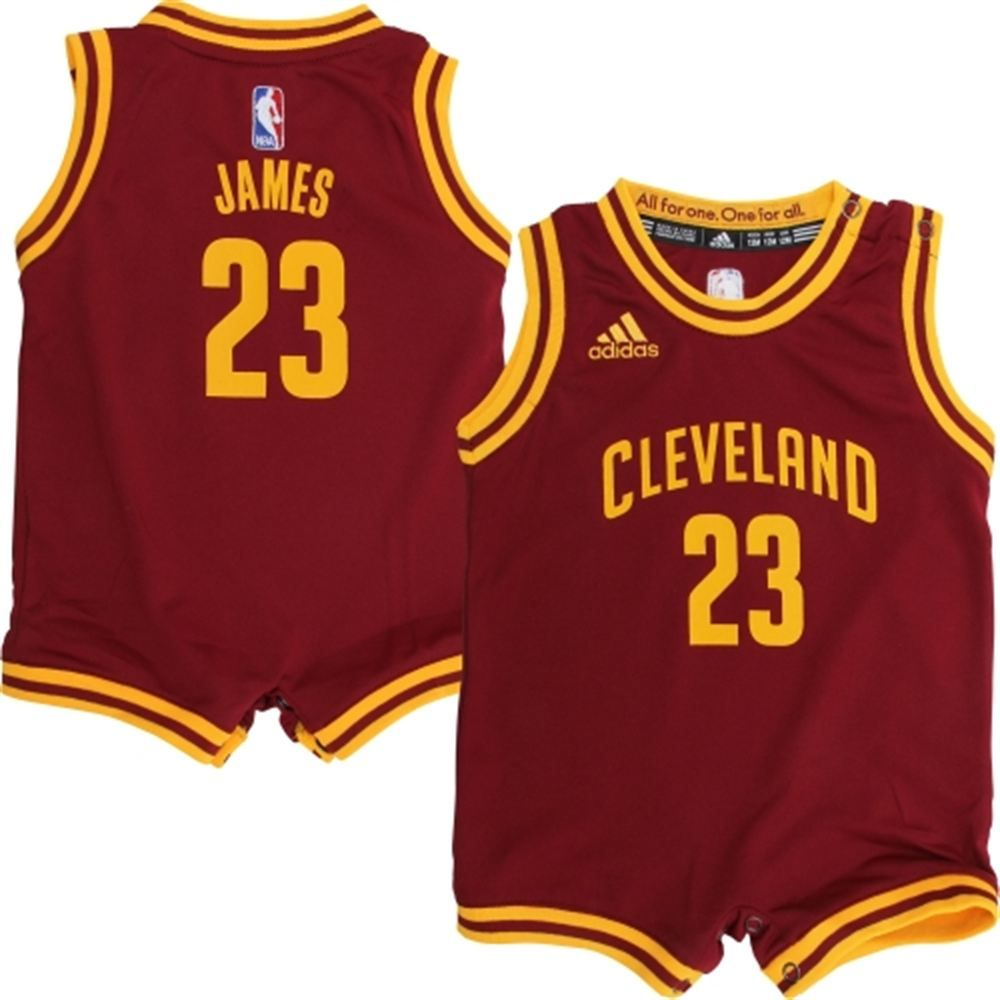 Cavs black t shirt jersey - Infant Cleveland Cavaliers Lebron James Adidas Wine Replica Jersey Romper