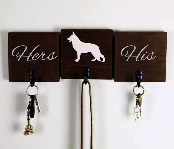 Customize Your Dog Breed Leash Hook And Key Holder Set Of Three