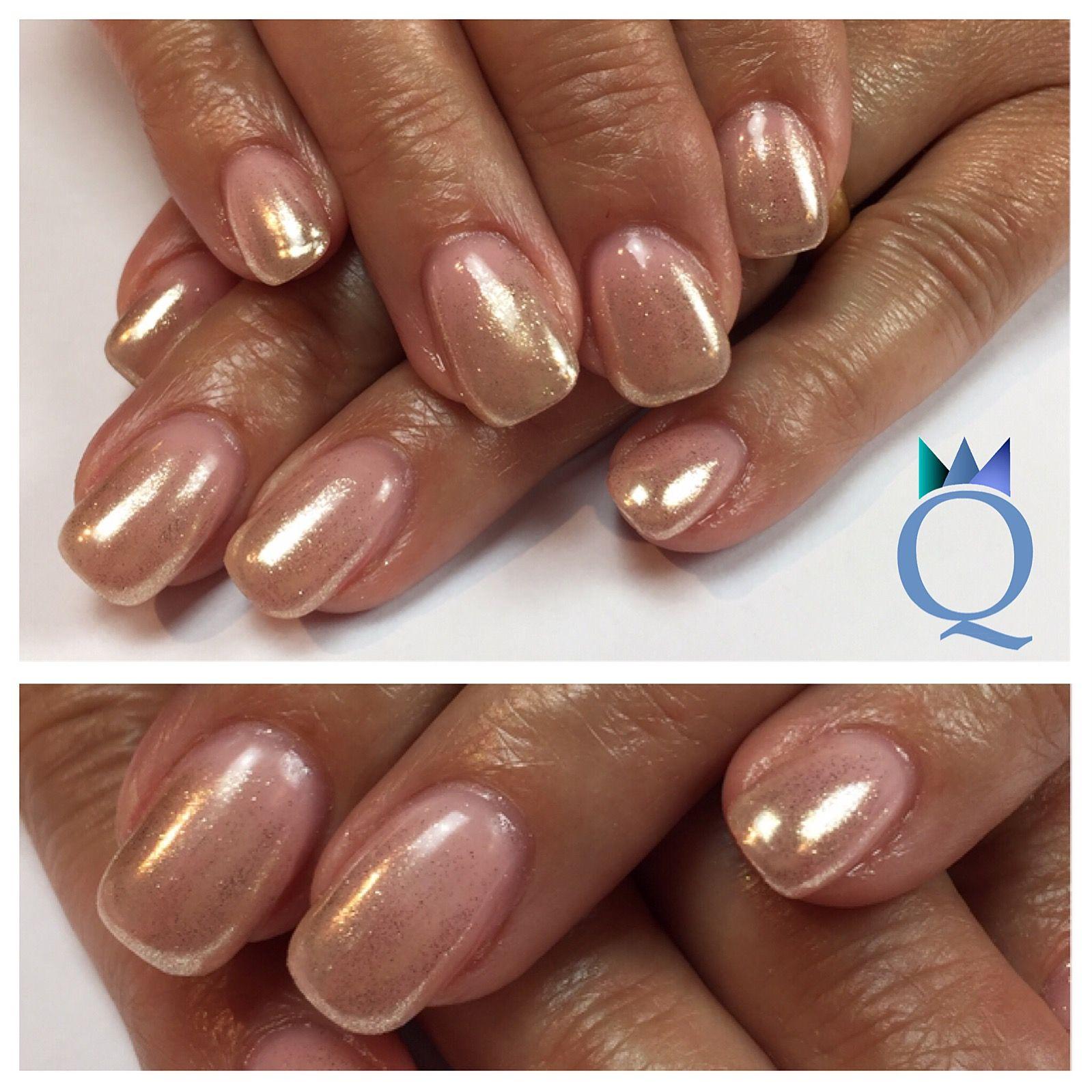 shortnails #gelnails #nails #goldchrome #ombre #kurzenägel #gelnägel ...