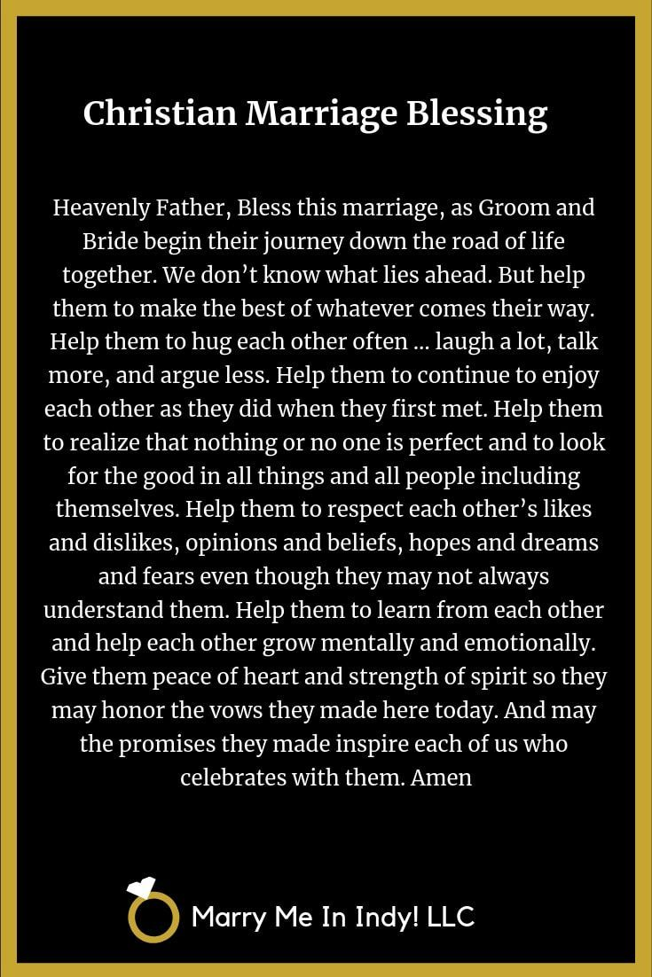Christian Marriage Blessings, Scripts and PDF's WEDDING