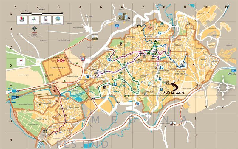 fes medina Buscar con Google Map Pinterest