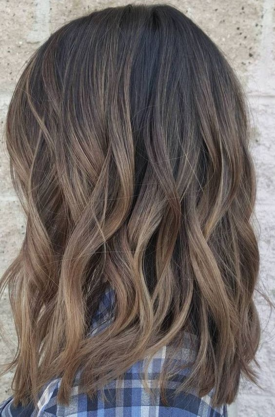 Dark Brown Mixed Balayage Color Ideas For Short Hairstyles