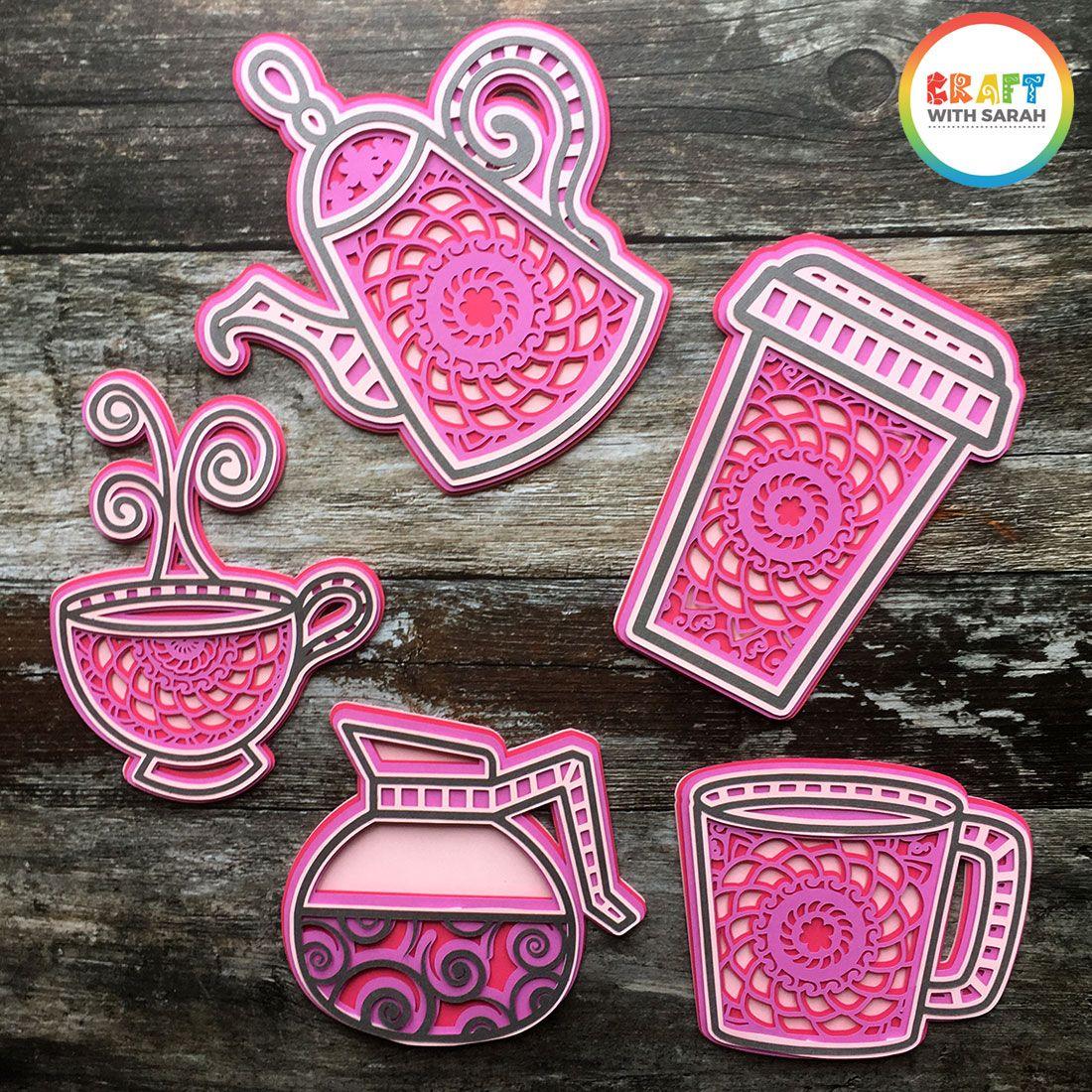 Download 5 Free Tea & Coffee Layered Mandala SVG Files | Craft With ...