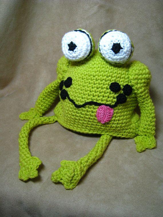 CROCHET PATTERN - frog hat, crochet baby pattern,children pattern ...