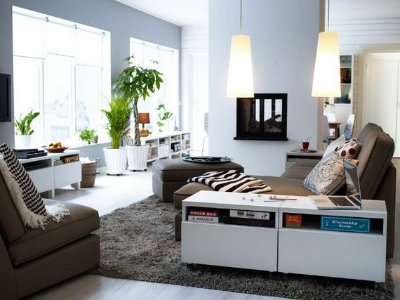 Wunderbar Wohnzimmer Design Ideen IKEA Braun