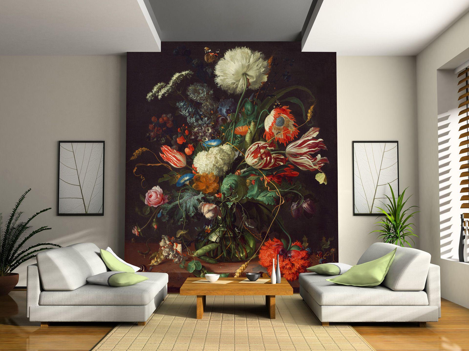 Dutch Flowers On Canvas Wallpaper Murals Flower Pain